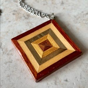 Inlaid Wood Necklace